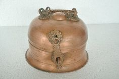 """Old Copper Handcrafted Betel Nut Box - With Unique 6 Compartment . Old Collectible From The 1930s   Get it delivered to your door step  Just visit: Singhalexportsjodhpur.COM and search for """"36197"""" in the search box  FREE SHIPPING!!! INDIAN DECOR INDUSTRIAL DECOR VINTAGE DECOR POP ART MOVIE POSTERS VINTAGE MEMORABILIA FRENCH REPLICA  #tinbox #tinboxes #vintagebox #onlineshopping #instashopping #shoppinggram #vintageshopping #rareitem #rareshopping #rarebuy #collectortoy #powderbox…"""