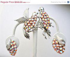 Big Sale Vintage Rhinestone Bird Set Coro by TheJewelryLadysStore, $46.40