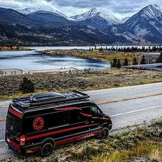 @vader_van advanturing in his Sprinter van outfitted with Aluminess gear ➡➡  .  #aluminess #roofrack #ladder #sprintervan #sprinterconversion #campervan #vanconversion #sprintercamper #sprintercampervans #mercedessprinter #mercedesbenzsprinter #explorecolorado @vanworksinc