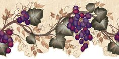 Brewster 418B268 Martex Special Places For Kitchen, Bedrooms, and Baths Grape Vine Wall Border, 9.5-Inch by 180-Inch - Amazon.com