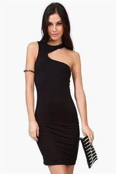 Turn To The Dark Side Dress in Black