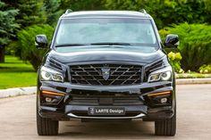 LARTE DESIGN 2016 Infiniti QX80 Missuro Infiniti Qx 80, 2015 Infiniti, Lexus Lx570, Car Bar, Large Suv, Classy Cars, Performance Exhaust, Mitsubishi Outlander