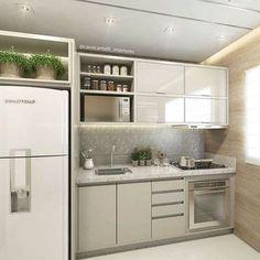 """12 mil curtidas, 110 comentários - • Arquitetura, Decor & Mais (@decoremais) no Instagram: """"Pra finalizar o domingão essa lindezãmm de cozinha, pequena, mas cheia de charme!! ☺️ Detalhe para…"""""""