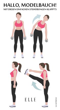 Wer träumt nicht vom Modelbauch, hat aber gleichzeitig von Sit-ups und Crunches die Nase voll? Kein Problem, denn um die lästigen Fettröllchen loszuwerden, musst du dich künftig nicht mehr auf die Matte legen. Auf ELLE.de findest du das komplette Workout. #sport #fitness #abs #bauchmuskeln #workout #training #lifestyle