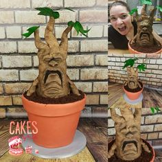 Sculpted Mandrake Root Cake by Cakes By Kristi
