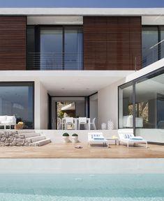 Minimalist Modern Home stone wall stunning house10