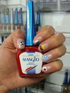 #Mundial2014 #masglolovers #inspiration Tips Belleza, Nail Polish, Nail Art, Nails, Beauty, Face, Natural Nail Designs, Nail Designs, Colombia