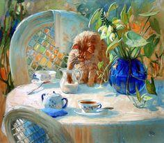 Кошки в искусстве. Антонио Капел: испанский реализм.