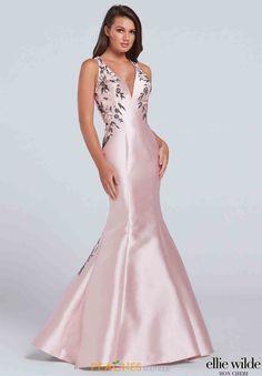 Ellie Wilde Long Fitted Dress EW117124