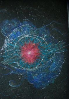 Supernova by Prunella Noonan.  Evolution, Change, Challenge Contemporary Art Quilt exhibit.  Quilters' Guild of NSW (Australia) 2015.