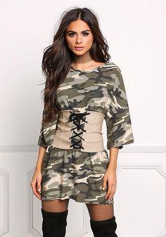 48b731d7fb59 Taupe Lace Up Corset Belt Diy Corset, Corset Belt, Junior Outfits, Trendy  Outfits