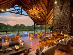 Lion Sands Game Reserve, Sabi Sand Game Reserve, South Africa Travel and Leisure World's Best Hotels 2016 Cabana, Hotels And Resorts, Best Hotels, Beach Resorts, Villa Interior, Interior Design, Hotel Boutique, Sand Game, Treehouse Hotel