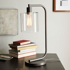 West Elm Lens Table Lamp $139 Target Threshold Seeded Glass Edison Table Lamp $50 To see a...