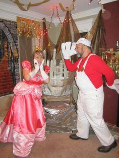 Halloween Costume: Super Mario and Princess Peach