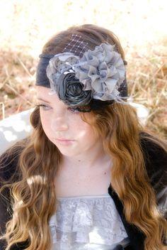 Silk Rosette Headband Fascinator  Hair Piece by KrumpetsDesigns, $28.50