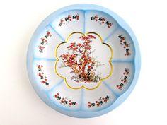 Vintage Meister Tin Bowl, Decorative Bowl, Metalware, Japanese Maple, Flowers, Birds by FoxLaneVintage on Etsy Japanese Maple, Eclectic Decor, Decorative Bowls, Tin, Decor Ideas, Birds, Plates, Tableware, Unique Jewelry