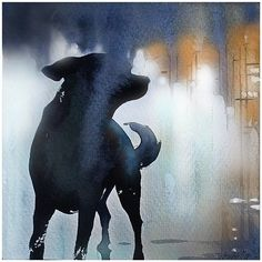 Night at the Opera by Thomas W. Schaller Watercolor ~ 12 inches x 12 inches