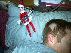 What have you done Suzy!!!  Daddy is going to send you back to the North Pole!  Elf on the shelf