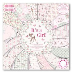 DOVECRAFT Paper 8x8 FULL PACK FIRST EDITION It s A Girl Scrapbooking