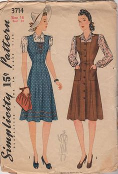 Simplicity pattern from the 1940s