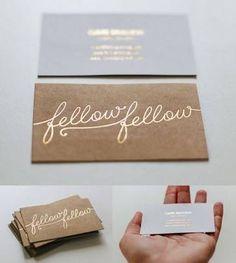Resultado de imagen para hot foil business cards