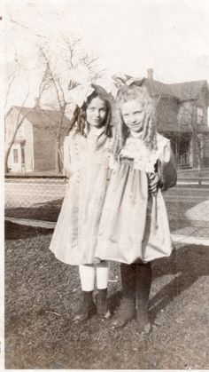 cute ringlet girls vintage snapshot photo by photopicker on Etsy