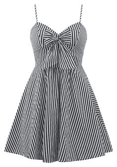 """Discover the cute and comfy women's """"Retro Doll"""" striped dress by Double Trouble Apparel. This black and white striped dress features adjustable straps. Dresses Near Me, Pin Up Dresses, Cute Dresses, Casual Dresses, Summer Dresses, Women's Dresses, Red Dress Outfit, The Dress, Dress Outfits"""
