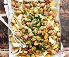 Kartoffel-Wurst-Blech