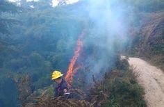 Manifestantes de oposición intentaron quemar el Pico Codazzi