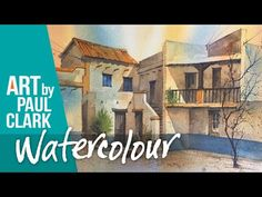 How to paint a Mexican house in watercolour - YouTube