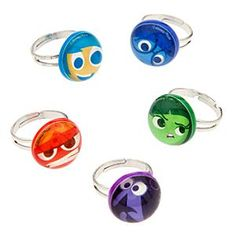 Disney•Pixar Inside Out Mood Ring Set | Disney StoreDisney%u2022Pixar Inside Out Mood Ring Set - Show your true emotions with this Disney%u2022Pixar <i>Inside Out</i> Mood Ring Set. With a ring for each of the five emotions, it will be easy to see whether you're feeling Joy, Anger, Fear, Disgust, or Sadness.