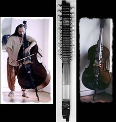 Bazantar - an upright acoustic double bass fitted with additional sympathetic & drone strings like an Indian instrument. Mystical sound! Hear it played at: http://www.youtube.com/watch?v=crSi9IxPfYA