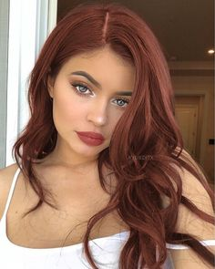 Wine Red Bouncy Body Wave Long Synthetic Lace Front Wigs Color Natural Hairstyle Glueless Synthetic Lace Front Wig For Women Red Hair Gel, Red Hair Makeup, Wine Red Hair, Red Hair For Black Hair, Red Hair For Summer, Asian Red Hair, Hair Color Auburn, Deep Red Hair Color, Mahogany Hair Colors