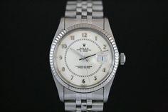 Rolex Datejust mit Box & Papieren aus 1985  Jubilee-Band, Weisses Zifferblatt, Arabische Indexe, Weißgold Lünette  Referenz: 16014 | 8,1 Mio-Serie | LC-010  http://www.juwelier-leopold.de/uhren/rolex/vintage.html
