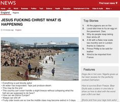 British News Outlets reacting to heatwave 7/1/15