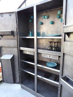 meuble industriel armoire métal vintage inspirationrecup.com vous ... - Meuble Cuisine Vintage 2
