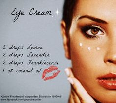 Young Living Essential Oils: Eye Cream | For more information or to order Young Living, come visit: www.theoildropper.com/debchausky