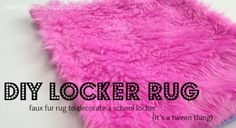 locker rug title Diy Room Decor For Teens, Diy Projects For Teens, Diy For Teens, Teen Diy, School Projects, Locker Crafts, Diy Locker, Locker Ideas, Locker Stuff