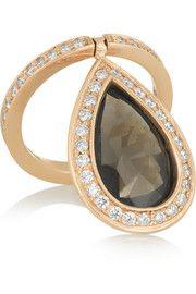 Nina Runsdorf18-karat rose gold, topaz and diamond ring