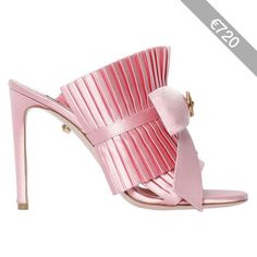Fausto Puglisi Women 100mm Ruffled Satin Mules W/ Bow
