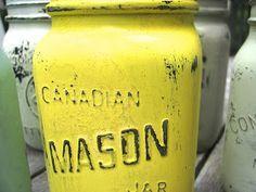 The Simple Craft Diaries: Distressed Mason Jars