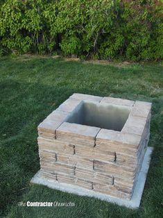 Pavestone Rumblestone™ Square Fire Pit No. 1 Installation ...