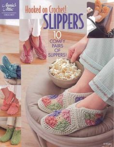 This book provides you with all the designs you'll ever need to keep those tootsies toasty! With knee-high, ready-for-bed and tasseled slippers included, you'll never get tired of wearing them. You'll find 10 comfy pairs of slippers in a variety of styles and colors to match your every mood. 20 pgs.Skill Level: Easy to Intermediate