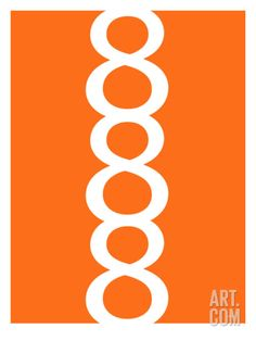 "Orange Figure 8 Design Art Print by Avalisa at Art.com 12"" x 16"" and up in size - $24.99 and up"