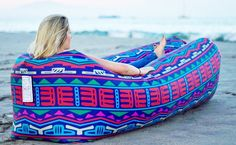 Grab a comfy seat anywhere on the go! #outdoorfun #lounger