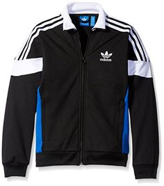 adidas Originals Big Boys Challenger Track Jacket BlackWhiteBlue 2XS ** Learn more by visiting the image link.Note:It is affiliate link to Amazon.