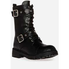 Dirty Laundry Lifeguard Boots ($30) ❤ liked on Polyvore featuring shoes, boots, black, zipper boots, combat boots, black shoes, lacing combat boots and army boots