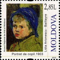 «Portrait of a Child Postage Stamp Art, Small Art, Stamp Collecting, Portrait Art, Coins, Art Gallery, Paintings, Artists, Sculpture