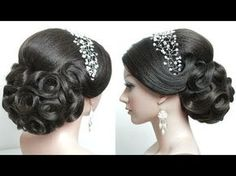 Indian bridal hairstyle tutorial. Wedding updo for long hair. Perfect Bun - YouTube