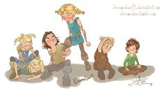 HTTYD: Berk Kids by DreamaDove93.deviantart.com on @deviantART